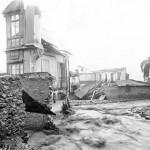 Restos del chalé de Valentín Sarasola (Tumballobos) tras la riada de 1921.  biblioteca de grado