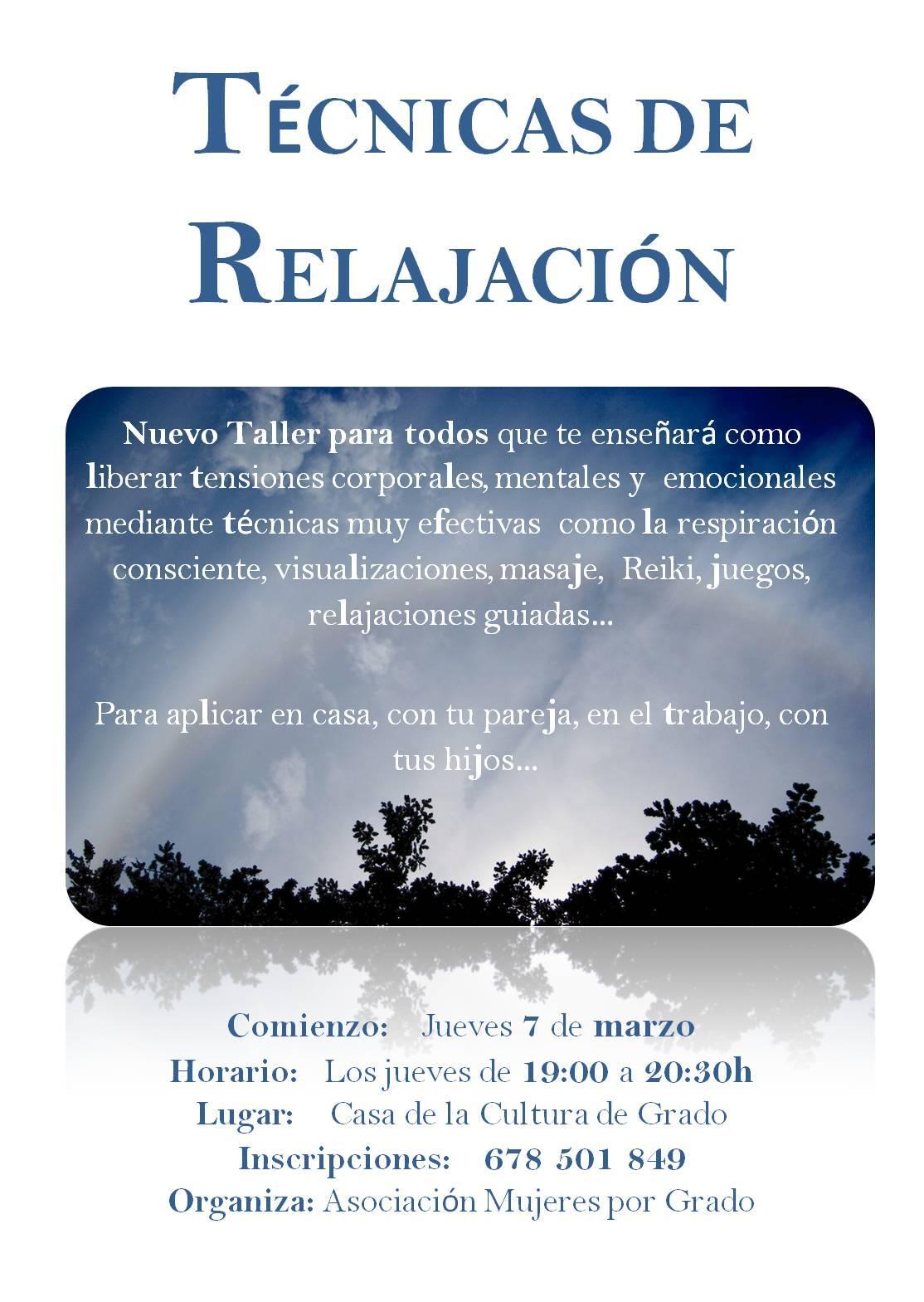 Noticias de grao taller en grado de t cnicas de relajaci n - Relajacion en casa ...