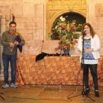 Fran Pola y Anabel Santiago, ayer, en la capilla de los Dolores.
