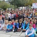 Los escolares de Grado marchan en favor del Sáhara S. ARIAS