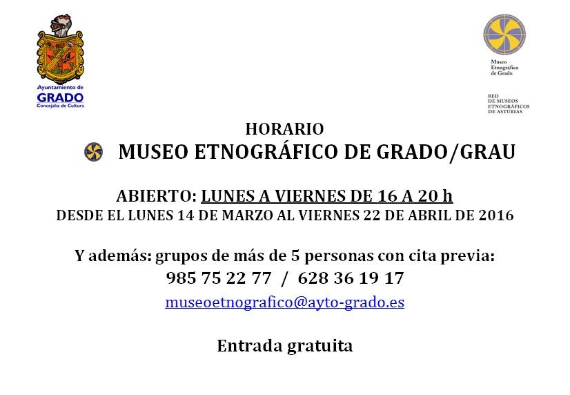 horario museo 2016