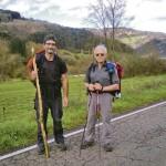 Esteban y Luis Berges, a su paso por el concejo de Grado, en el Camino Primitivo. s. arias
