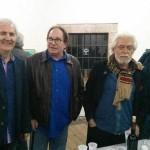 Los pintores José Luis Tamargo, Mendívil, Carlos Sierra y Chus Gión.